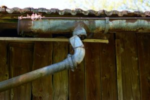 The downpipes and gutters on this old queenslander need replacing