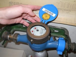 Checking water meter for possible leaks