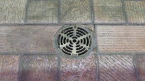 blocked floor drain needs clearing