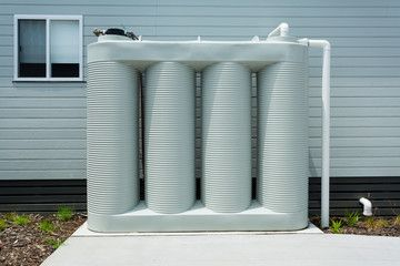 slim rainwater tanks are great for tighter spaces like in the new housing estates in Ipswich